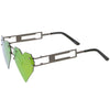 Novelty 8 Bit Laser Cut Heart Shape Mirrored Flat Lens Sunglasses C440