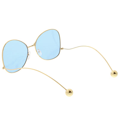Women's Retro Oversize Butterfly Shape Color Tone Lens Sunglasses C443