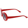 Colorful Retro 1990's Fashion Round Clout Goggle Oval Lens Sunglasses C449