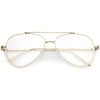 Retro Modern Teardrop Clear Flat Lens Glasses 58mm C451