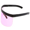 Retro Oversize Color Tone Color Shield Protection Visor C452