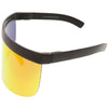 Retro Modern Oversize Novelty Mirrored Lens Shield Visor C453