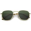 Retro Modern Geometric Hexagon Frame Dapper Sunglasses C455