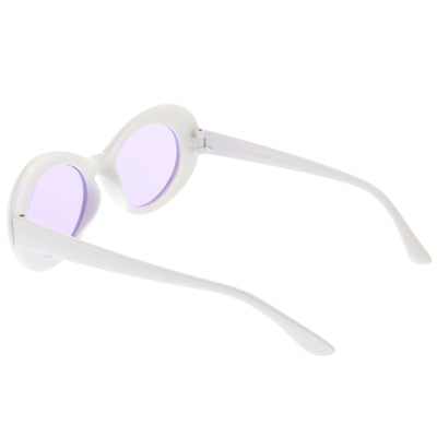 Retro 1990's Fashion Clout Goggle Oval Colored Lens Sunglasses C459