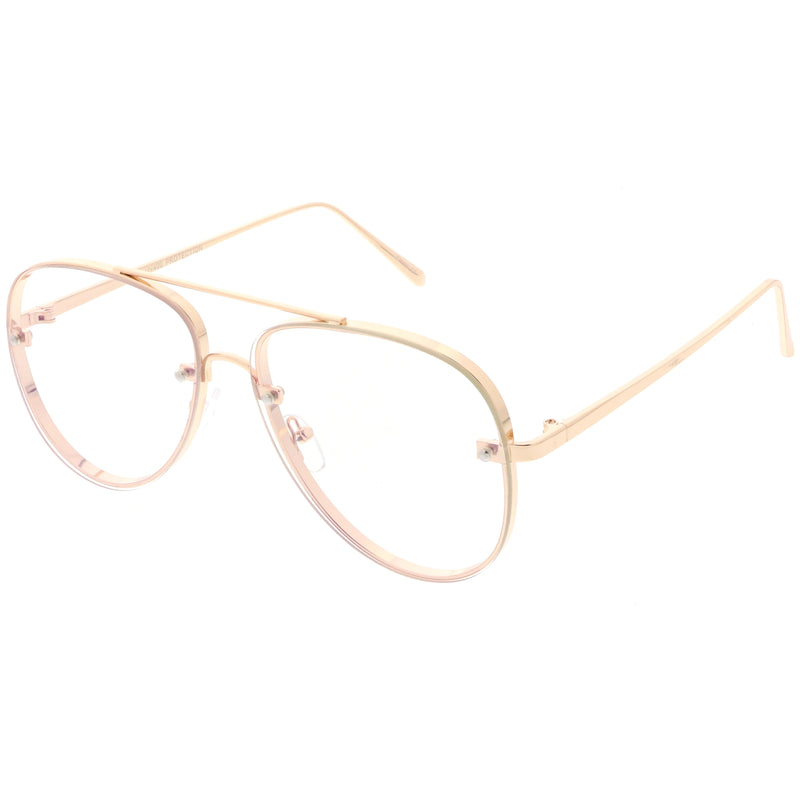 zeroUV C470 Gold Clear Glasses