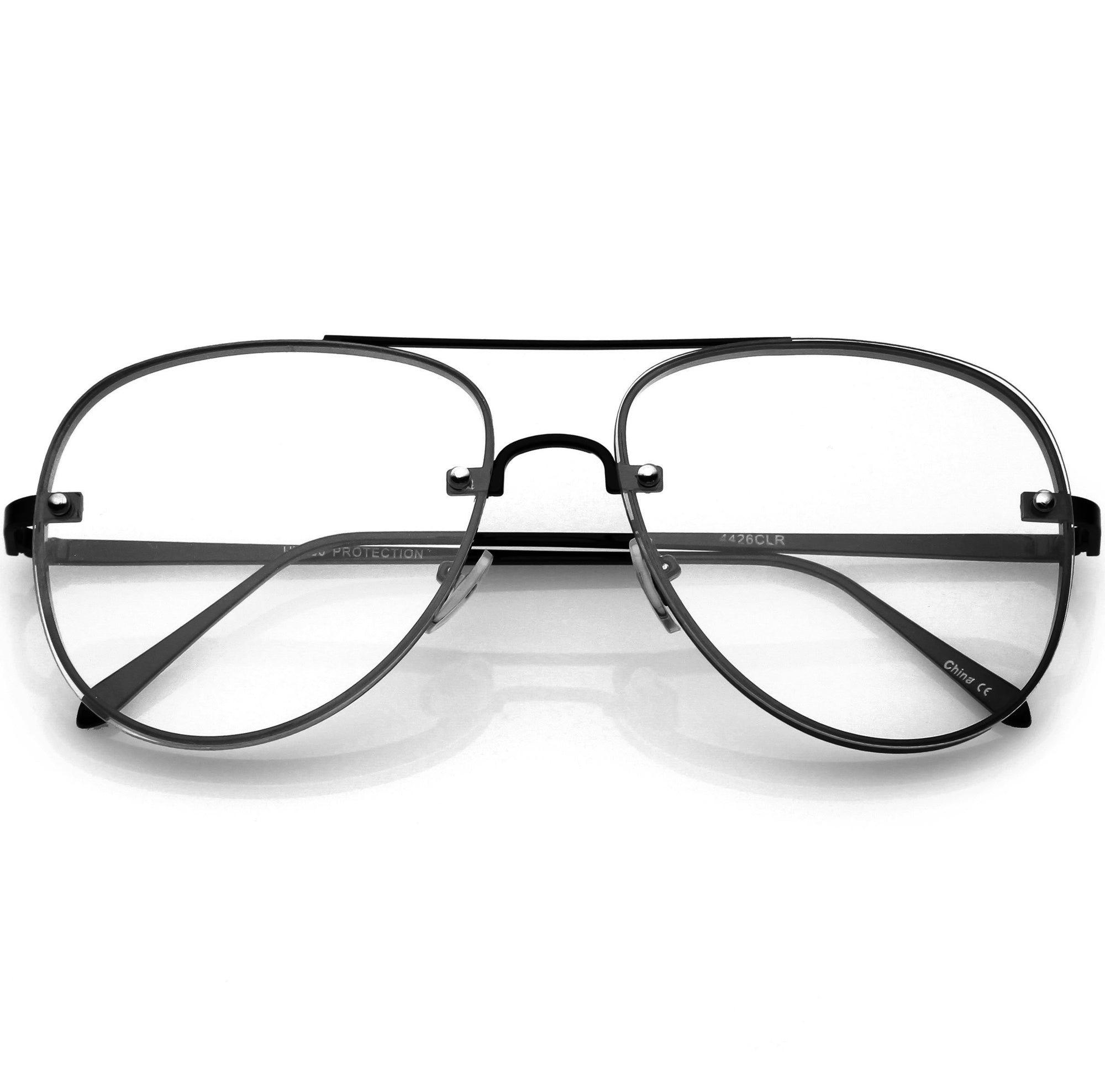 Everyday Classic Slim Metal Aviator Clear Lens C470