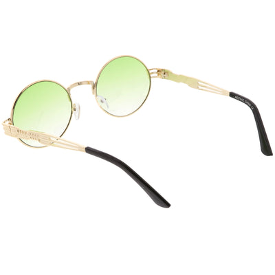 Retro 1990's Oval Steampunk Flat Lens Sunglasses C477