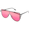 Retro Futuristic Shield Mono Lens Color Tone Sunglasses C484