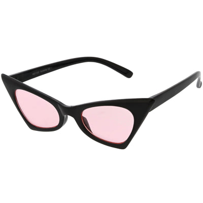 Retro 1950's Geometric High Pointed Cat Eye Sunglasses C492
