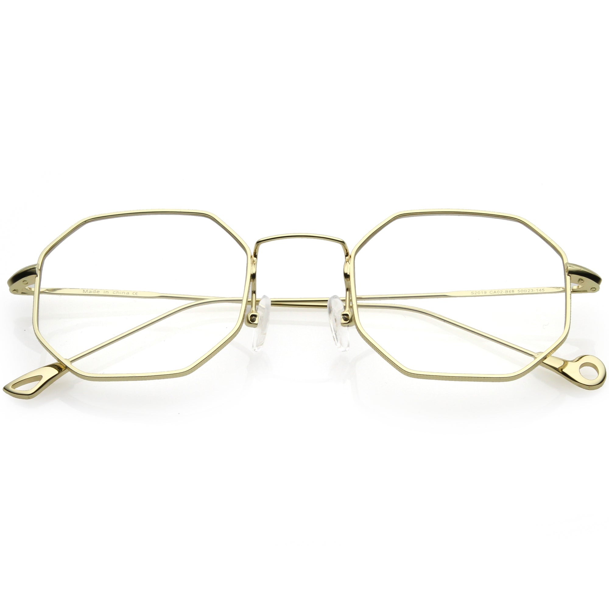 Premium Retro Geometric Octagon Clear Lens Glasses C494
