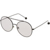 Premium Oversize Color Oval Plat Lens Aviator Sunglasses C498