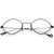 Premium Retro 1990's Fashion Small Diamond Shape Clear Lens Glasses C500