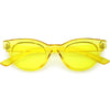 Women's Retro Transparent Color Flat Lens Cat Eye Sunglasses C513