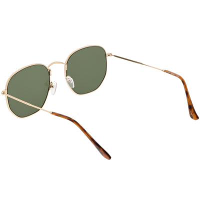 Vintage Inspired Indie Dapper Flat Hexagon Lens Sunglasses C517