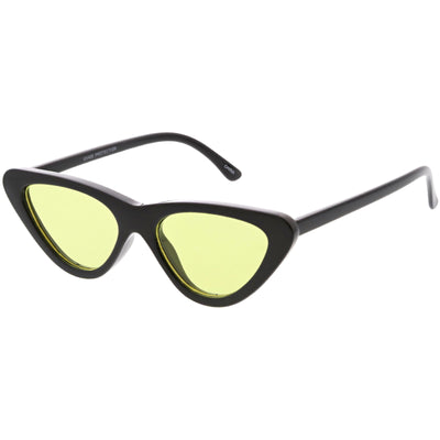 Retro 1990's Narrow Color Tone Flat Lens Cat Eye Sunglasses C522