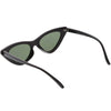 Women's Narrow 1990's Retro Flat Lens Cat Eye Sunglasses C523