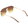 Retro Modern Futuristic Rimless Shield Aviator Sunglasses C541