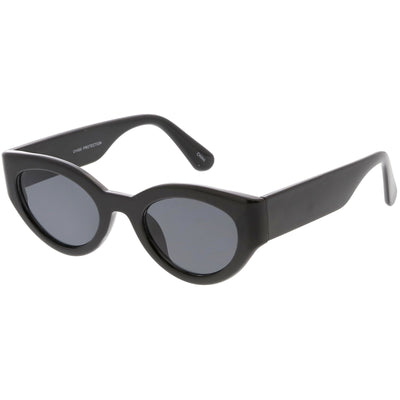 Retro Modern Bold Wide Frame Oval Sunglasses C543