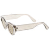 Bold Retro Fashion Oval Mirrored Flat Lens Sunglasses C544