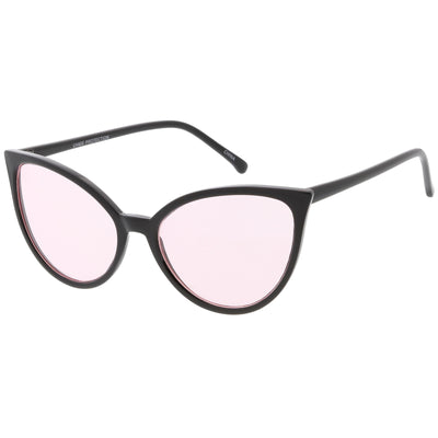 Women's Angular Color Tone Retro Cat Eye Sunglasses C555