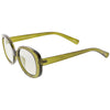 Women's Rounded Retro 1950's Thick Frame Sunglasses C557