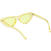 Women's Colorful Retro Indie Festival Thin Cat Eye Sunglasses C560