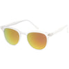 Retro Horned Rim P3 Rounded Mirrored Lens Sunglasses C561
