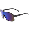Retro 1980's Riding Sports Mirrored Lens Shield Sunglasses C562