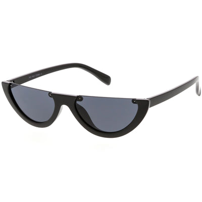 Retro 90's Flat Top Moon Shape Cat Eye Sunglasses C569