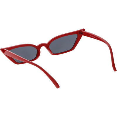 Women's 90's Thin Retro Pointed Cat Eye Sunglasses
