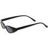 Retro 90's Ultra Thin Shallow Oval Cat Eye Sunglasses C575