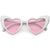 Women's Oversize Translucent Cat Eye Heart Shape Sunglasses C577