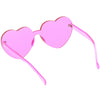 Women's Heart Shape Color Tone Monoblock Sunglasses C578