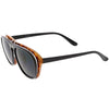 Men's Oversize Two Tone European Style Flip Up Aviator Sunglasses C580
