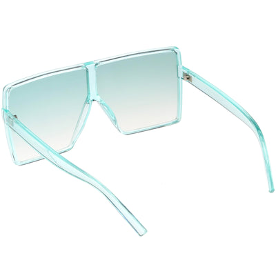 Women's Oversize Festival Color Tone Square Sunglasses C581