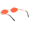 1990's Small Rimless Color Tone Geometric Hexagon Sunglasses C591
