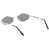 Retro 1990's Small Geometric Hexagon Sunglasses C593