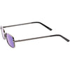 Retro Unisex Small Rectangle Mirrored Flat Lens Sunglasses C597