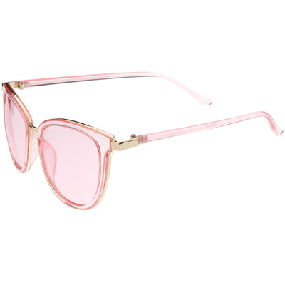Colorful Transparent Horned Rim Color Tone Lens Sunglasses C607