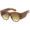 Women's Handcrafted Oversize Horned Rim Rhinestone Sunglasses C609