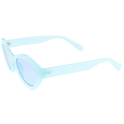Retro Colorful Translucent Color Tone Oval Sunglasses C623