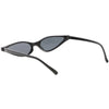 Women's Retro 1990's Thin Cat Eye Dual Rivet Sunglasses C624