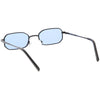Retro 1990's Micro Rectangle Color Tone Metal Sunglasses C625