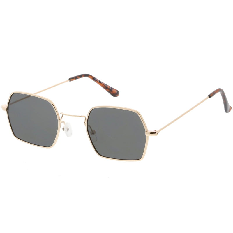 Ultra Slim Metal Hexagon Geometric Sunglasses C633