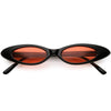 Women's Retro 90's Thin Color Tone Cat Eye Sunglasses C662