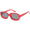 Artistic Retro Modern Deep Rectangle Block Flat Lens Sunglasses C673