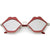 Women's Oversize Cute Flat Mirrored Lens Lip Shape Sunglasses C674
