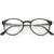 True Vintage Indie Round Clear Lens Horned Rim Glasses C675
