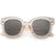 Oversize Novelty Star Embellished Horned Rim Sunglasses C683