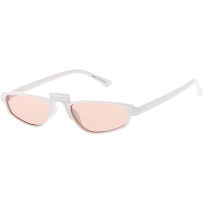 Women's 1990's Small Thin Retro Cat Eye Sunglasses C684